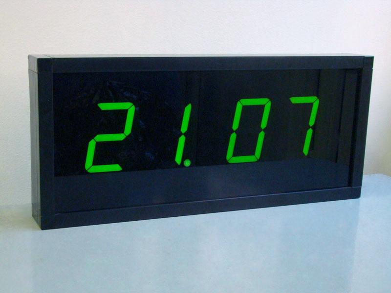 ЦПВ цифровые часы зеленые